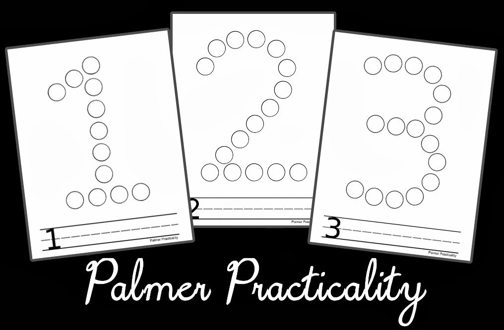 Palmer Practicality: Do A Dot Printables- Numbers