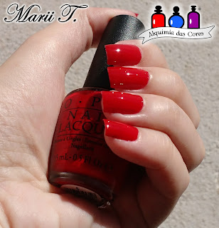 Vermelho, Alice, OPI, Cremoso, Semana Cremosa, ALICE THROUGH THE LOOKING GLASS, Marii T.,