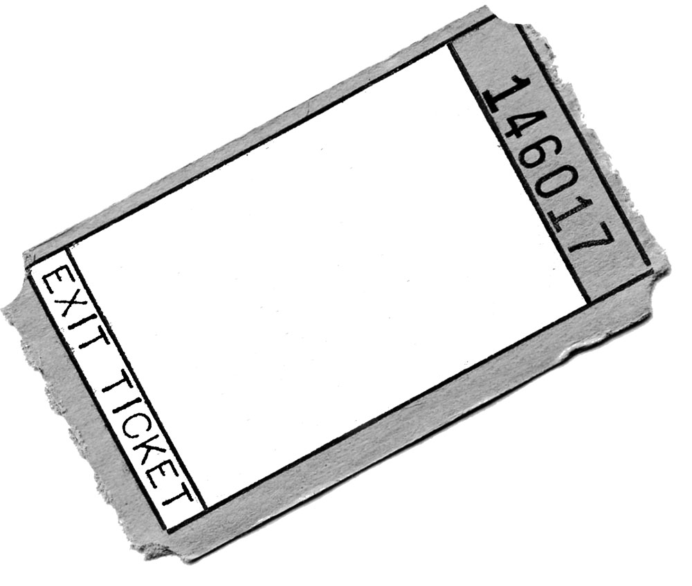 exit ticket clipart - photo #1
