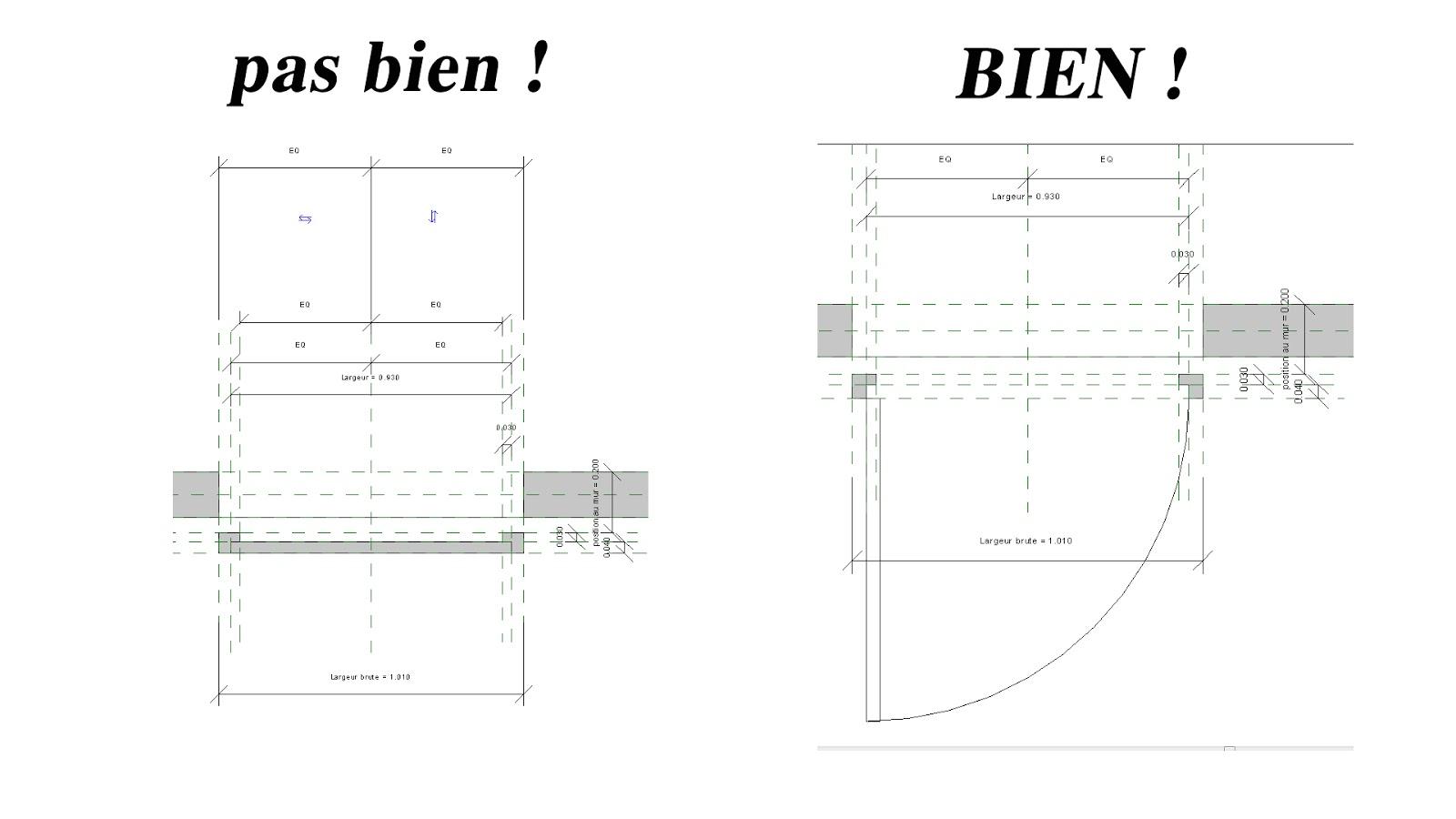 Vanille3d Revit Famille étape 1 Création Dune Porte Piétonne