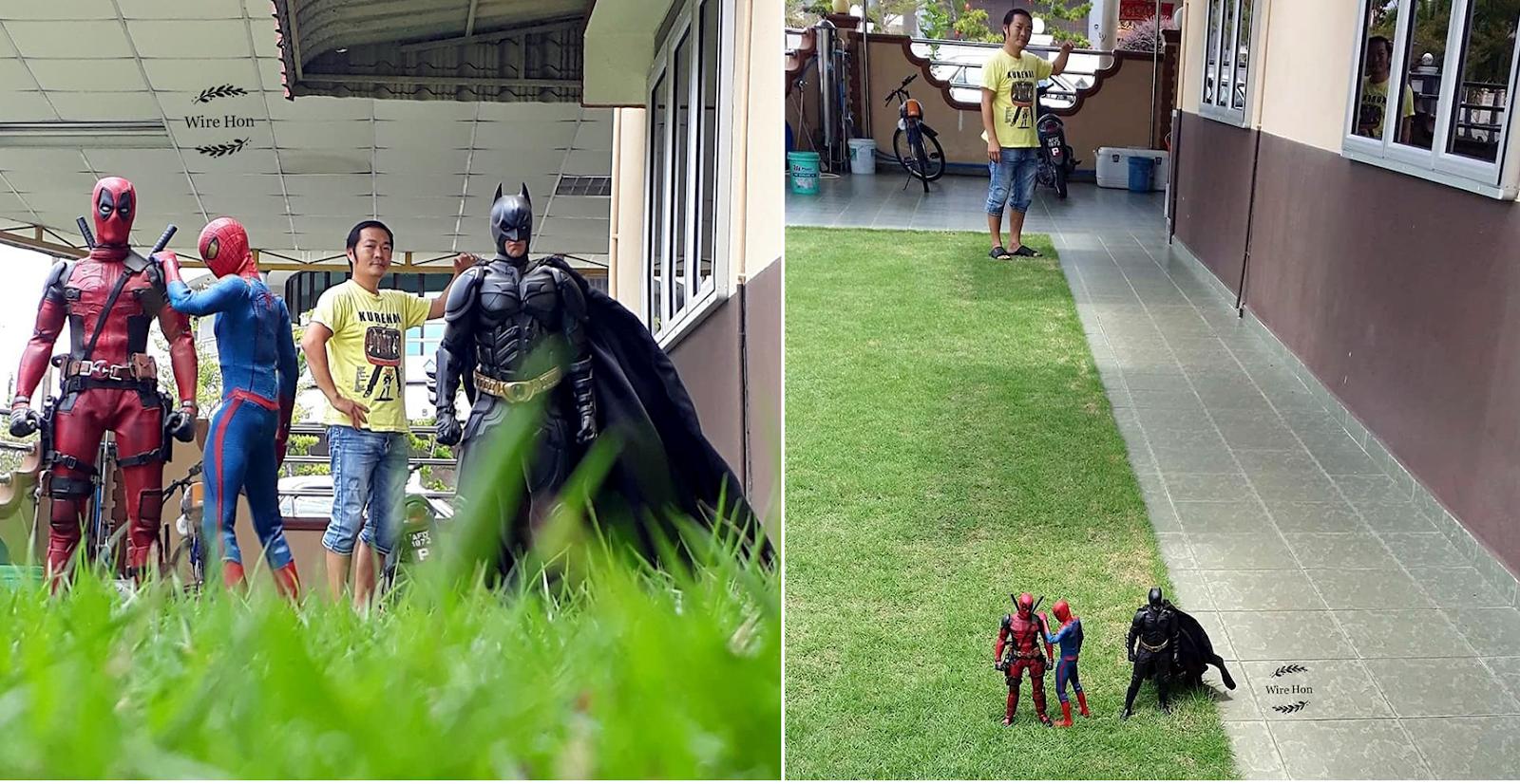 KEREN! Berbekal Smartphone, Pria Asal Malaysia Ini Hasilkan foto Kreatif dengan Superhero