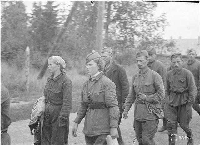 Soviet prisoners surrendering at Sortavala, 15 August 1941 worldwartwo.filminspector.com