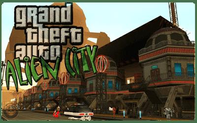 GTA San Andreas: Anderius Alien City [MOD] Download