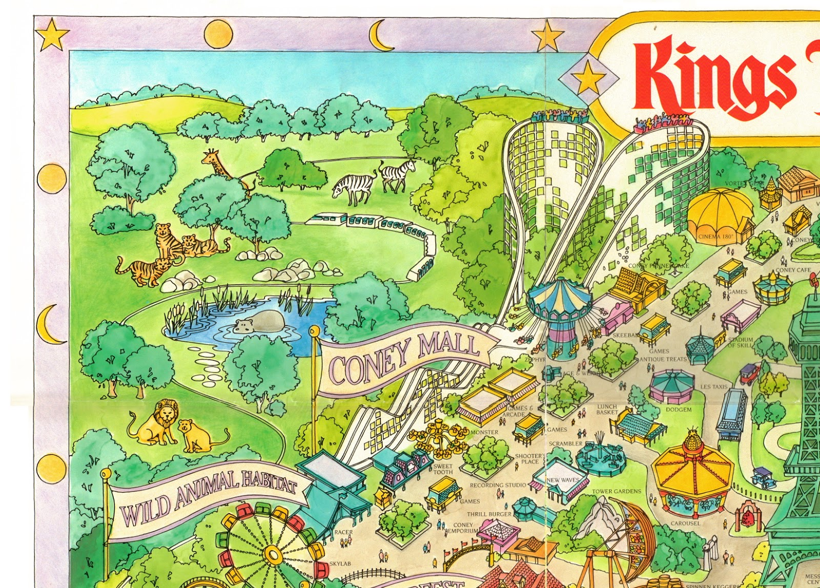 NewsPlusNotes: Kings Island 1989 Souvenir Map on new york city new jersey map, wild river country map, apostle islands map, carowinds map, north island naval base map, islands of adventure map, canada's wonderland map, kiddieland map, paramount park map, disney's blizzard beach map, coney island fun map, westbury new york map, beach waterpark map, six flags map, cincinnati map, cedar point map, oaks amusement park map, michigan adventure map, long island satellite map, disneyland map,