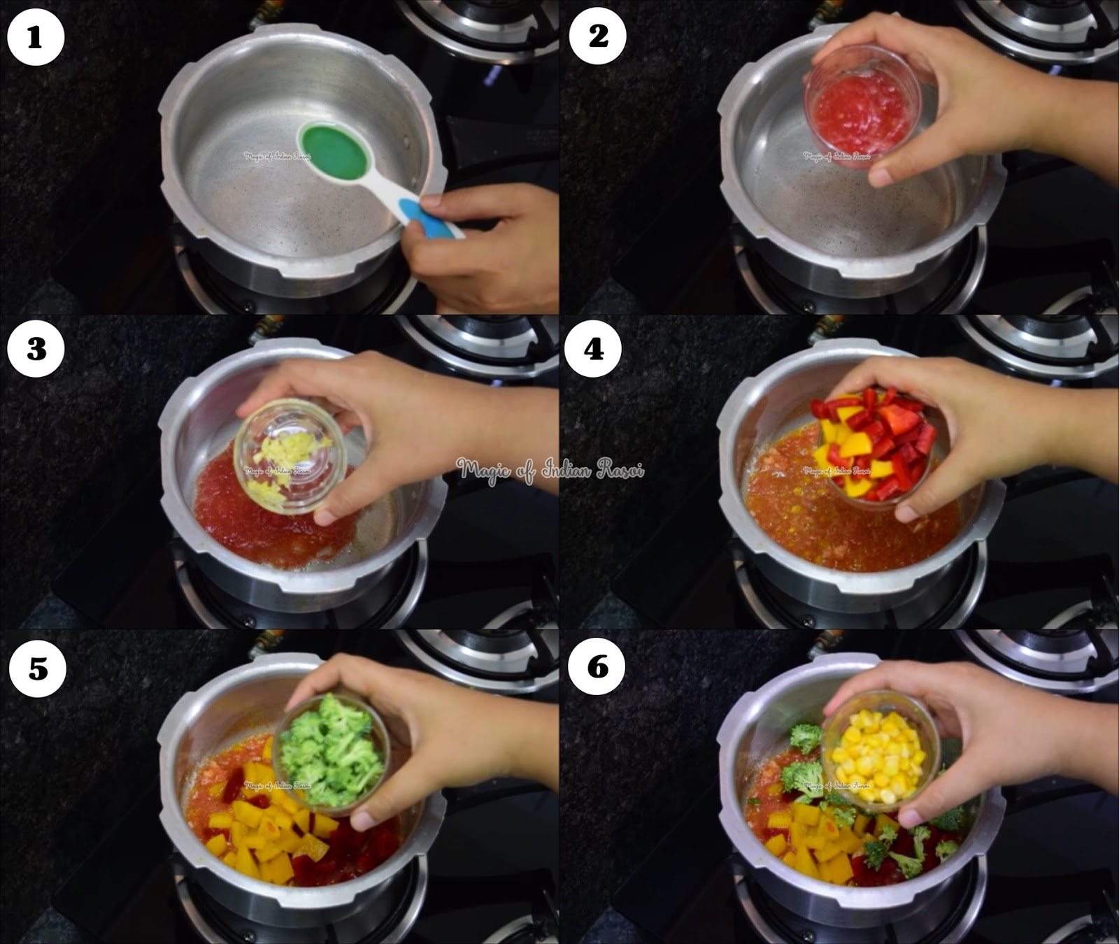 Cheesy Penne Pasta in pressure cooker - One Pot Pasta (Quick) Recipe - प्रेशर कुकर में चीज़ी पेने पास्ता - एक पॉट पास्ता (क्विक) रेसिपी - Priya R - Magic of Indian Rasoi