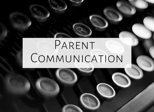 Parent communication for the music room