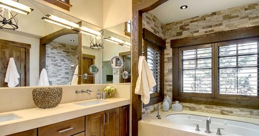 idée de salle de bain rustique