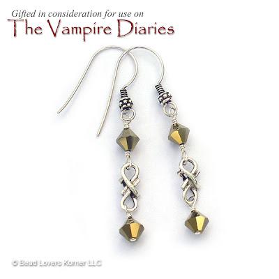Eternal Reflection Earrings worn by Elena Gilbert