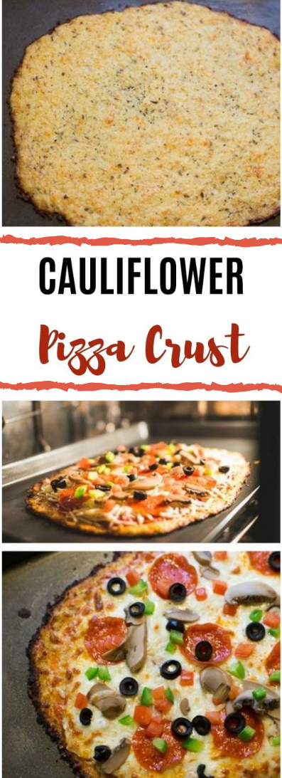 Cauliflower Pizza Crust #healthy #glutenfree