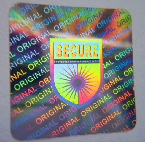 Hologrammaufkleber mit Sicherheitseffekt