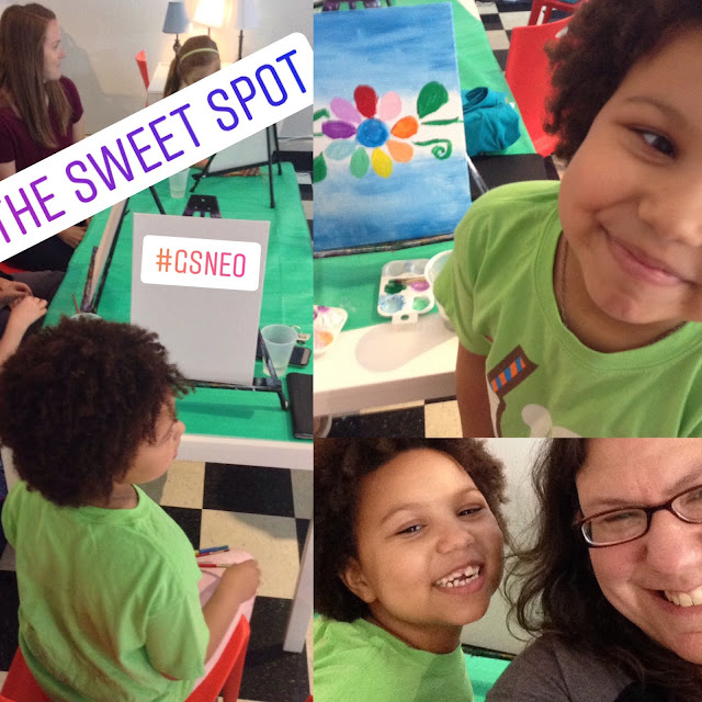 Mommy and Me Painting with My Girl at the Sweet Spot #gsneo