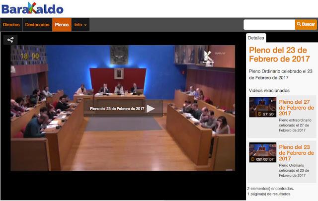 Web con las emisiones de las sesiones plenarias