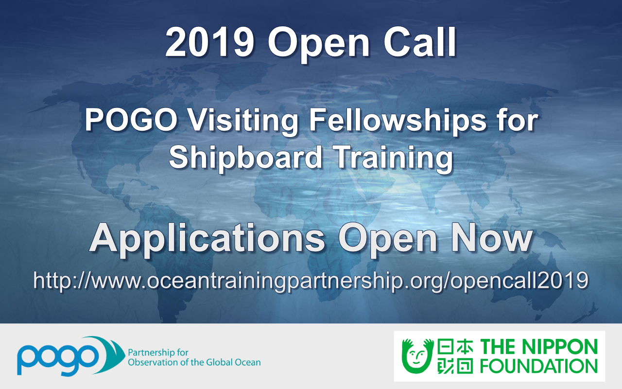 POGO Open Call for Shipboard Fellowship for Researchers from OECD Countries, 2019