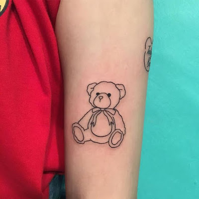 cute small teddy bear tattoo