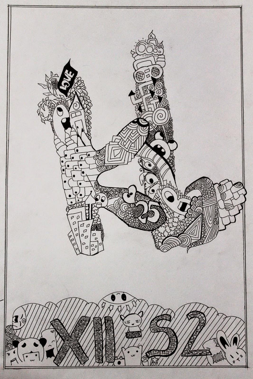GANESHA Art MOTIF GARIS HURUF DoodlE