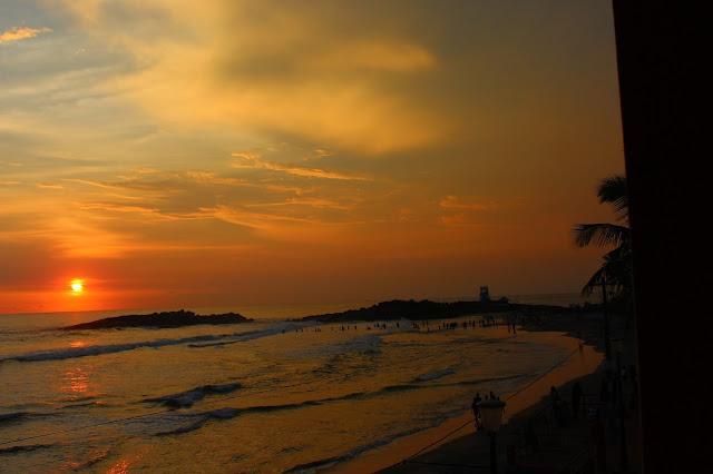 Sunset, view, german bakery, Kovalam, Kerala, beautiful