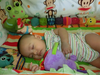 Lil'Amin tidur nyenyak sangat