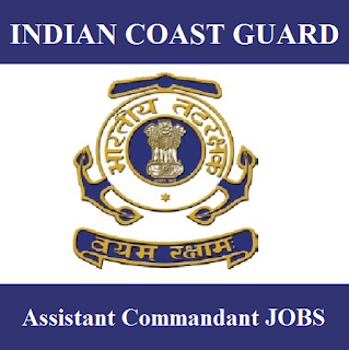 Indian Coast Guard, Ministry of defence, Assistant Commandant, 12th, Force, freejobalert, Sarkari Naukri, Latest Jobs, indian coast guard logo