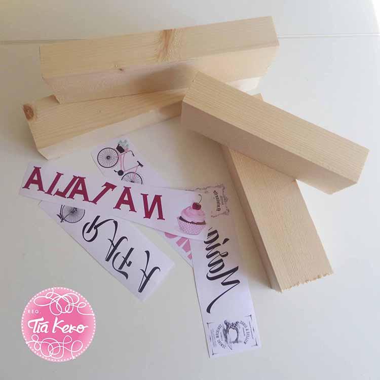 Manualidades con listones de madera - Liston de madera ...