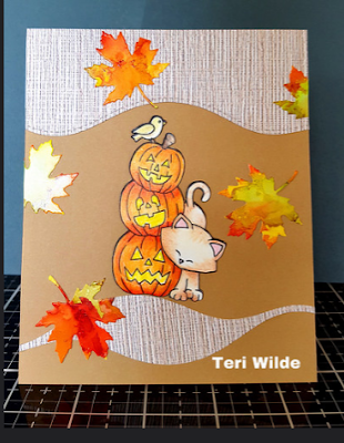 Teri's card features Autumn Newton by Newton's Nook Designs; #newtonsnook