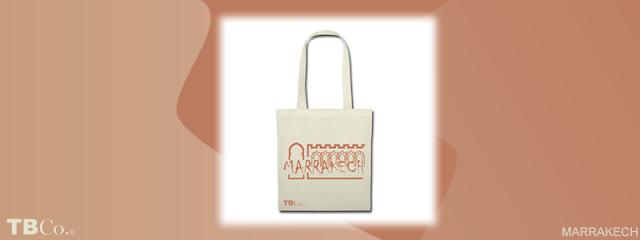 Bolsa de tela con diseño inspirada en la arquitectura de Marrakech