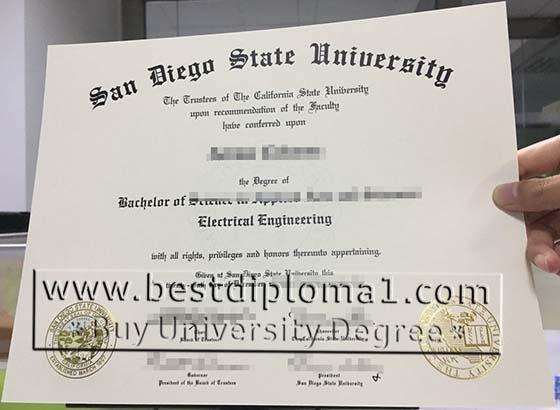 buy fake SDSU diploma