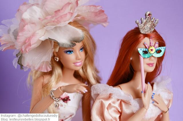 Barbie Carnaval avec masque et chapeau