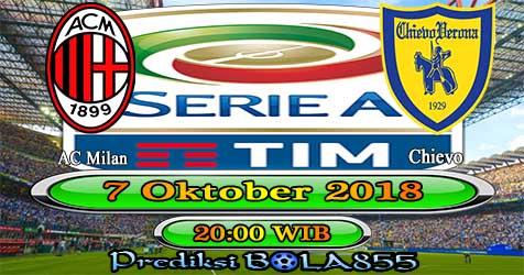 Prediksi Bola855 AC Milan vs Chievo 7 Oktober 2018