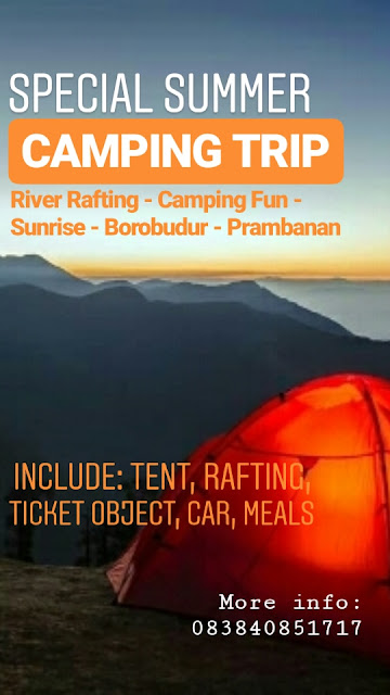 Borobudur camping, camping rafting, wisata alam, wisata jogja