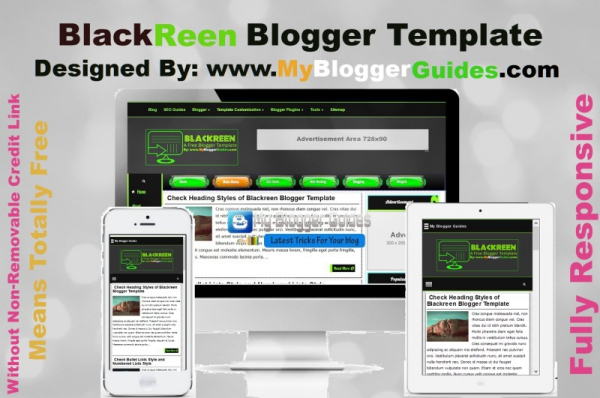 BlackReen Responsive Blogger Theme Demo, Free Blogger Templates