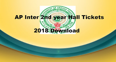 AP Inter 2nd year Hall Tickets 2018 Download, Intermediate Hall Ticket Search by Name