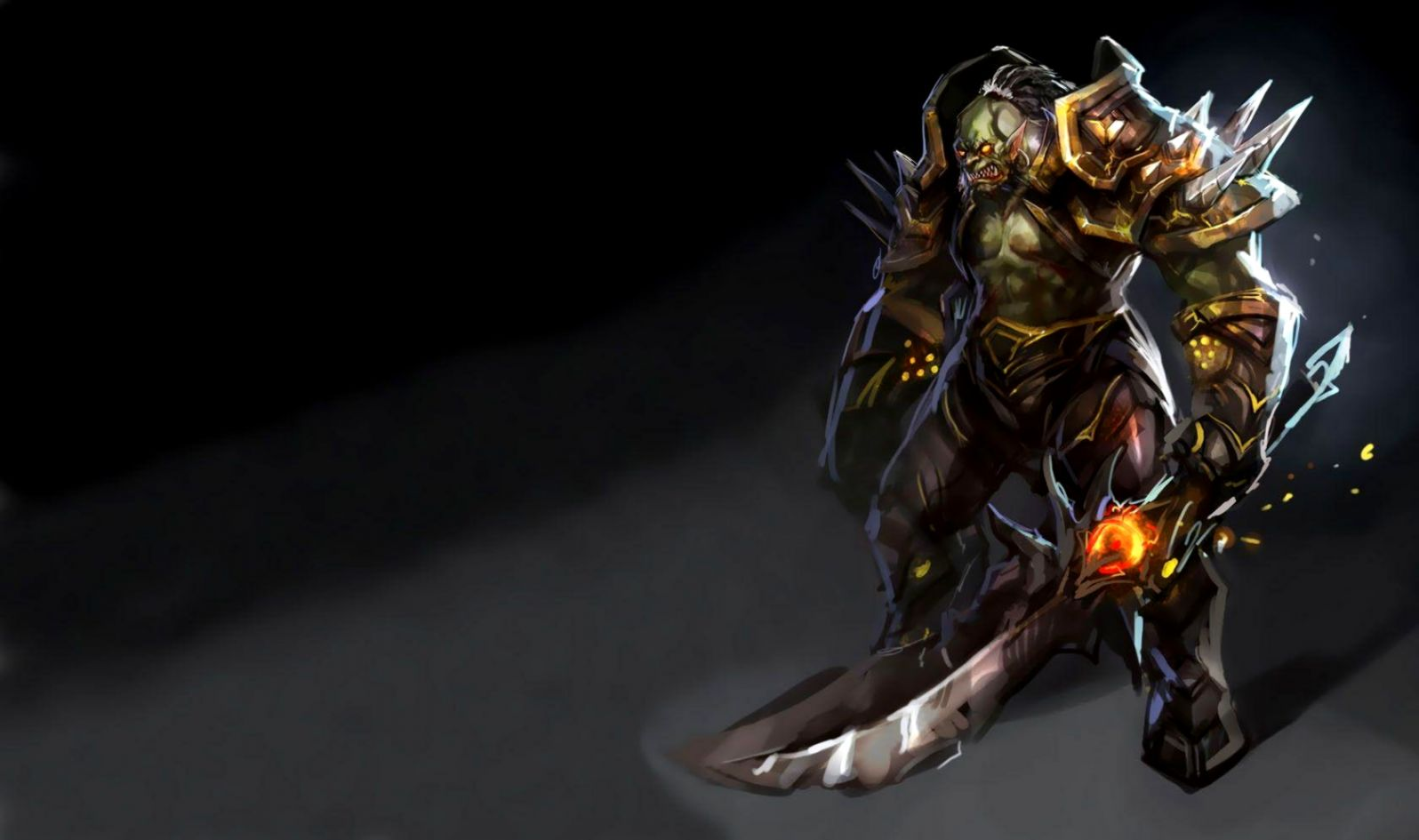 World Of Warcraft Orc Fighter Wallpaper Wallpapers Heroes