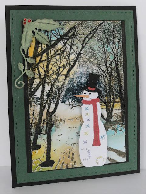 Snowman scene by Debbie Brownmiller