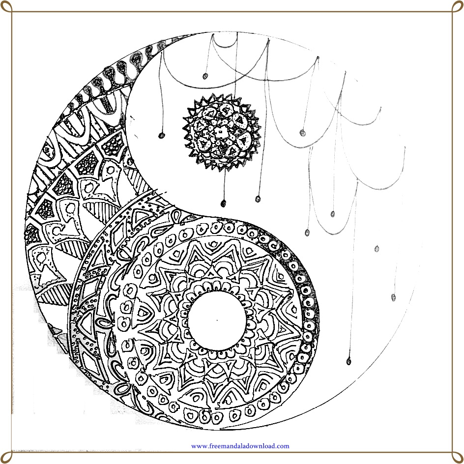 wie zeichne ein yin yang  tribal mandala tattoo design