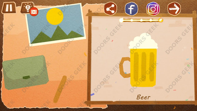 Chigiri: Paper Puzzle Apprentice Level 27 (Beer) Solution, Walkthrough, Cheats