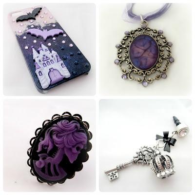skull crown vampire bat accessories by cedeconail