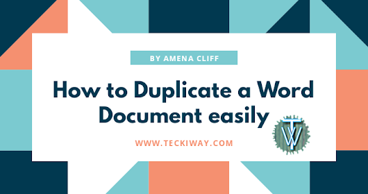 How to Duplicate a Word Document easily.
