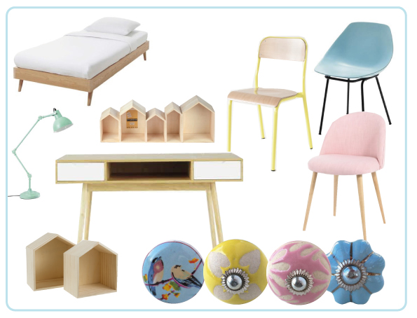boutons de meubles pastel