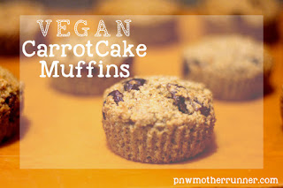 Vegan carrot cake muffins cranberries flax healthy