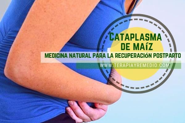 Para la recuperación postparto cataplasma de maíz ( Zea may) medicina natural para el vientre de las mujeres después del parto