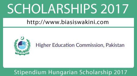 Stipendium Hungarian Scholarship 2017