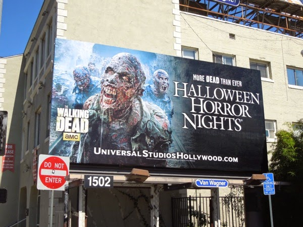 Halloween Horror Nights Walking Dead billboard 2014