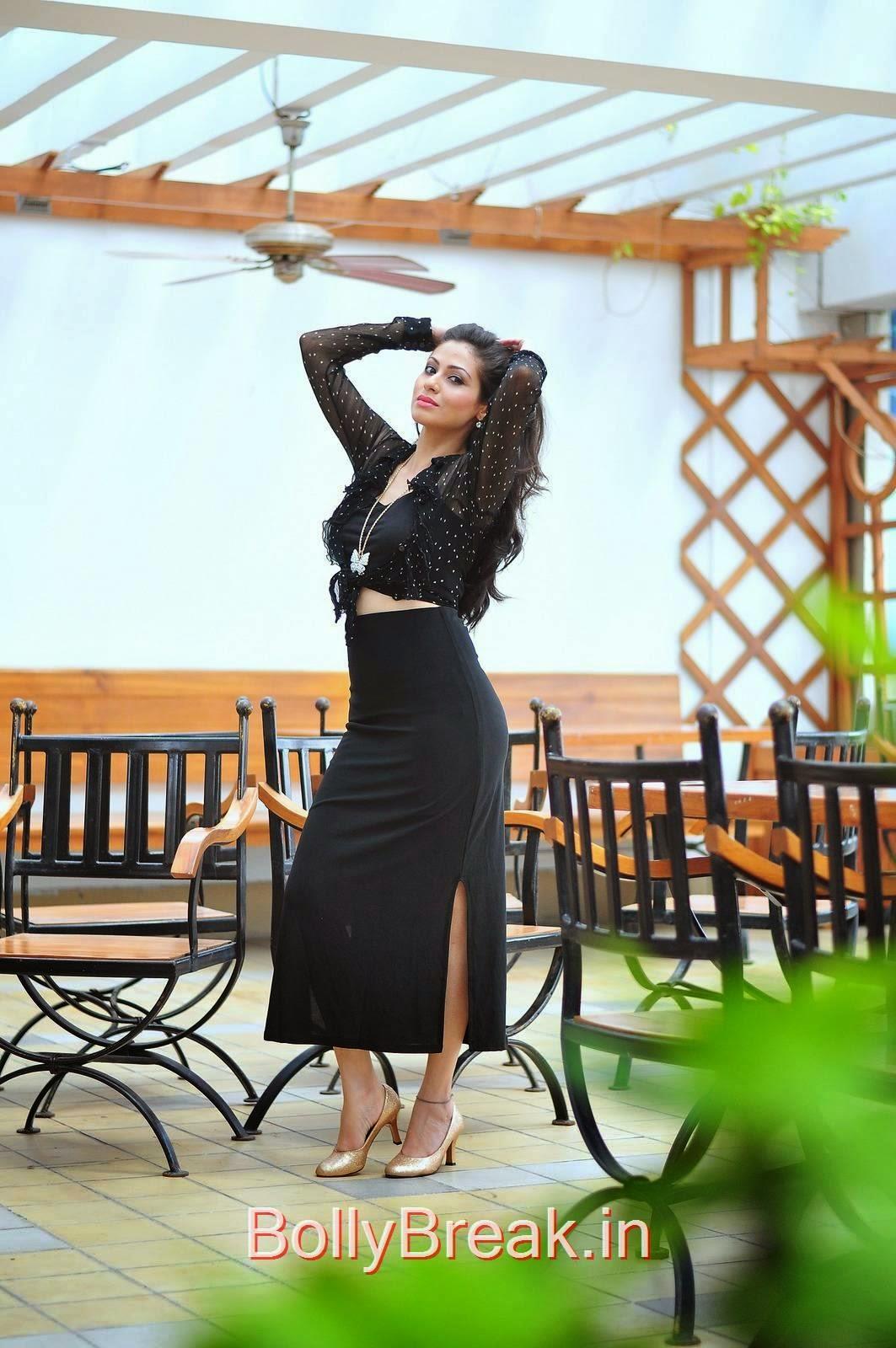 Sada Stills, Hot HD Images Of Sada In Red & Black Dress