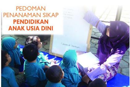 Pedoman Penanaman Sikap Pendidikan Anak Usia Dini (PAUD)