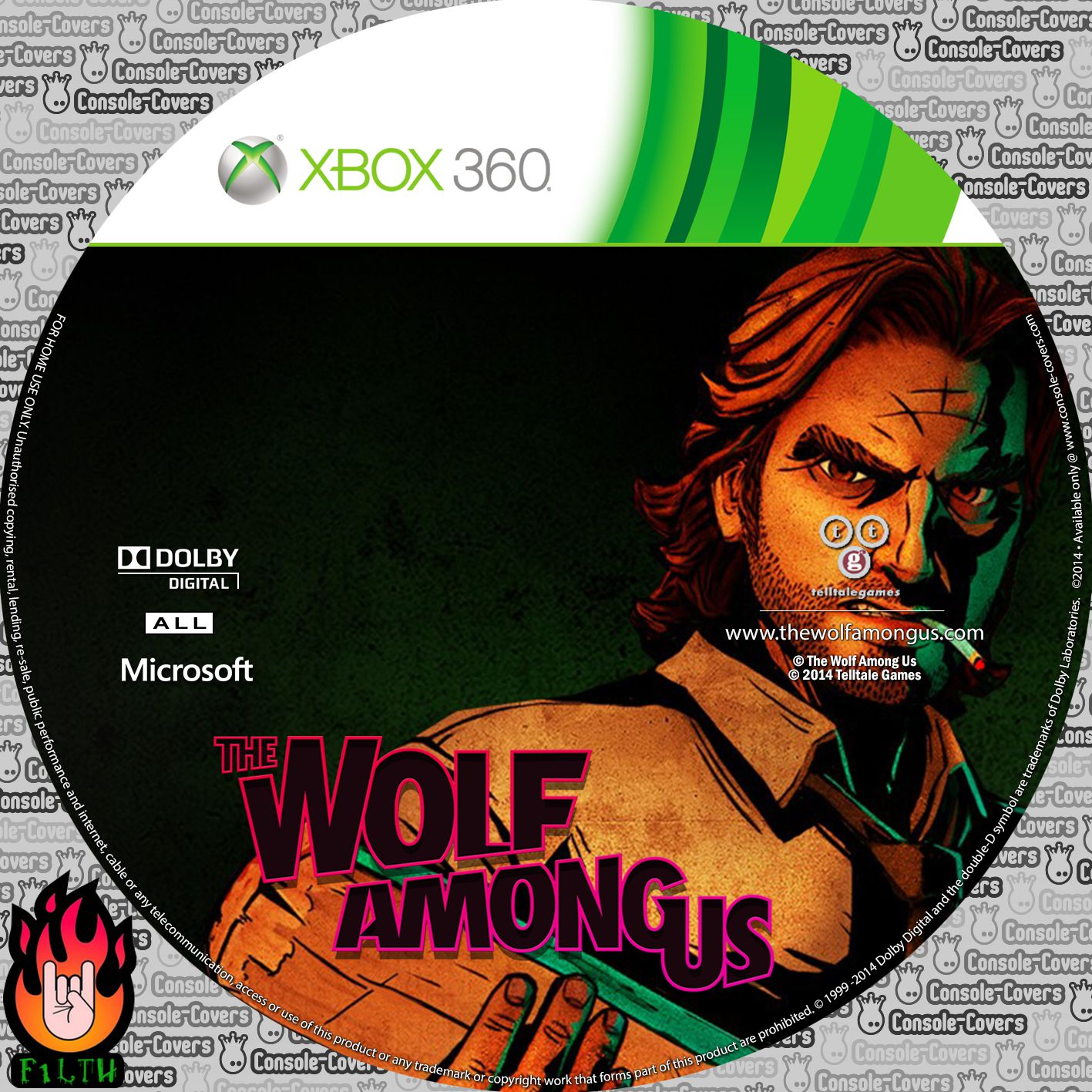 Label The Wolf Among Us Xbox 360