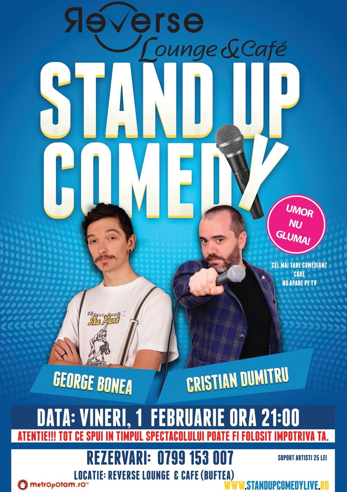 Stand-Up Comedy Buftea, Vineri 1 februarie 2019