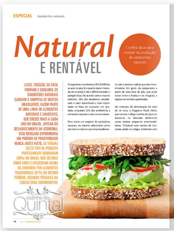 Paula Mello do blog Cozinha do Quintal na Revista Assaí Bons Negócios 14a. edição