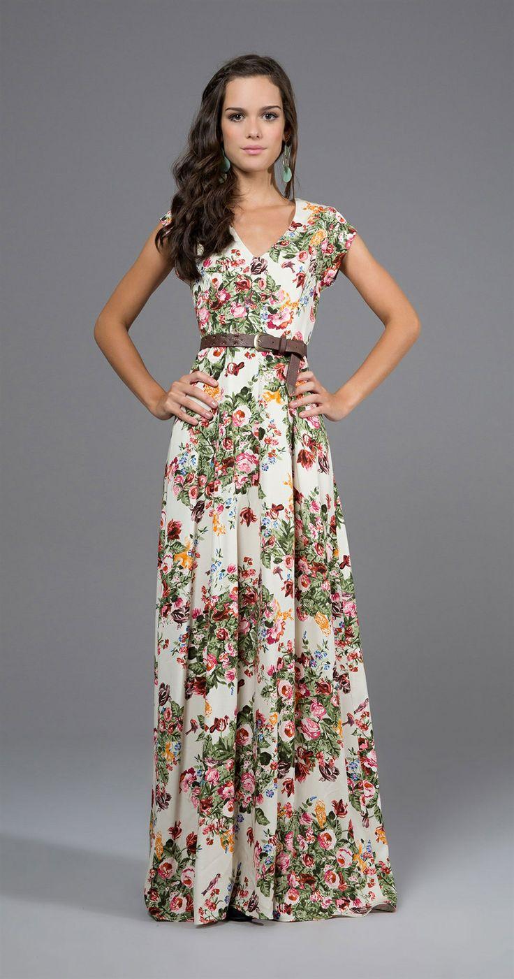 Modelos de vestidos largos informales