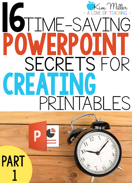 16 Time-Saving PowerPoint Secrets for Creating Printables: Part 1