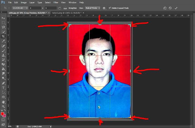 Cara Membuat Pas Foto Ukuran 4x6, 3x4 dan 2x3 dengan Photoshop